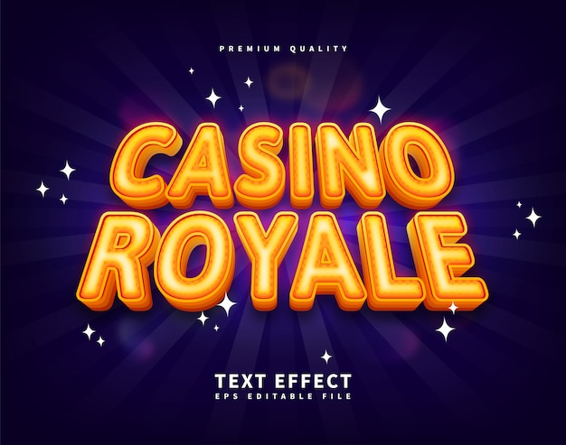 Gold casino royal text effect