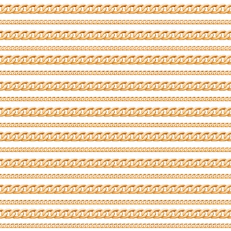 Gold chain lines luxury seamless pattern.