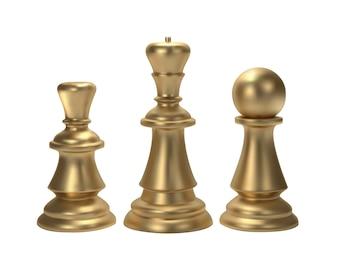 Gold Chess for idea concept