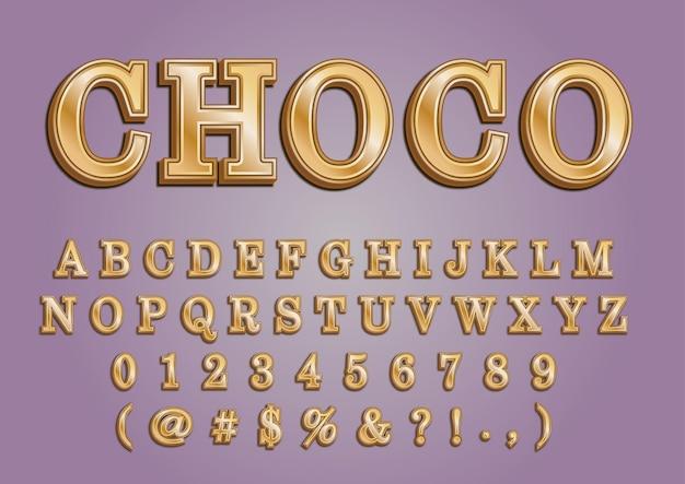 Набор цифр gold choco 3d алфавиты