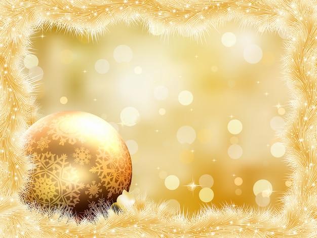 Золотой новогодний фон