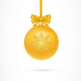 Gold Christmas Ball Illustration