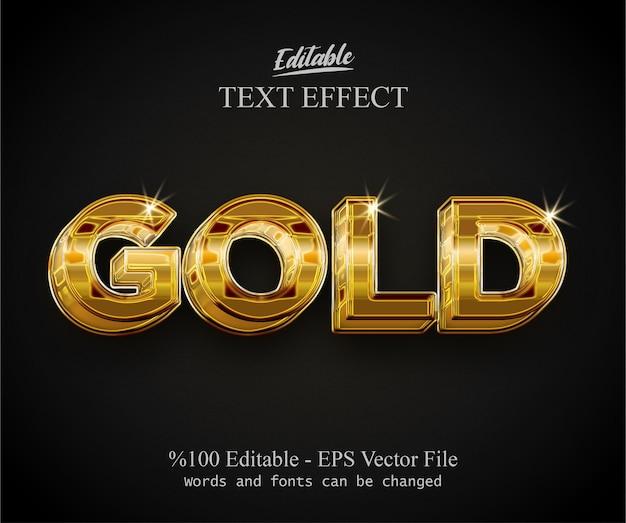 Золотой хром редактируемый текст эффект вектор