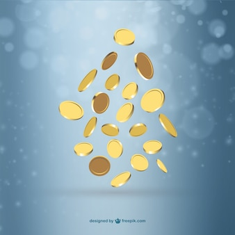 Gold coins background