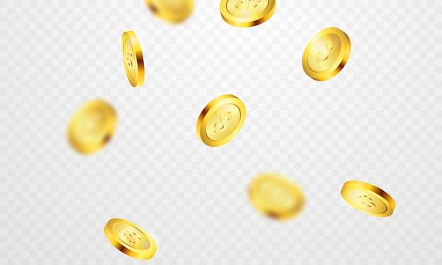 Gold coins casino luxury vip invitation with confetti celebration party gambling