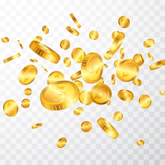 Взрыв золотых монет
