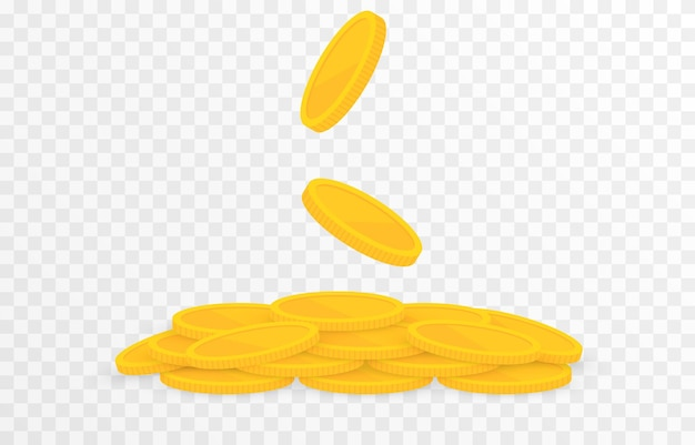 Gold coins fall from the sky png money png coins