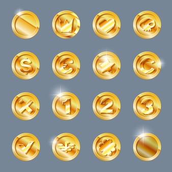 Gold coins set