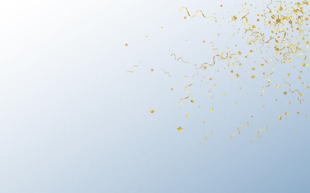 Gold confetti anniversary gray background