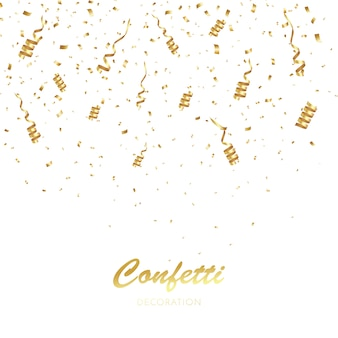 Gold confetti background