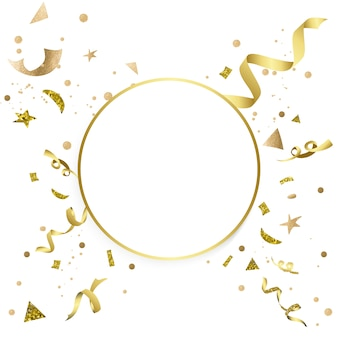 Gold confetti celebratory design