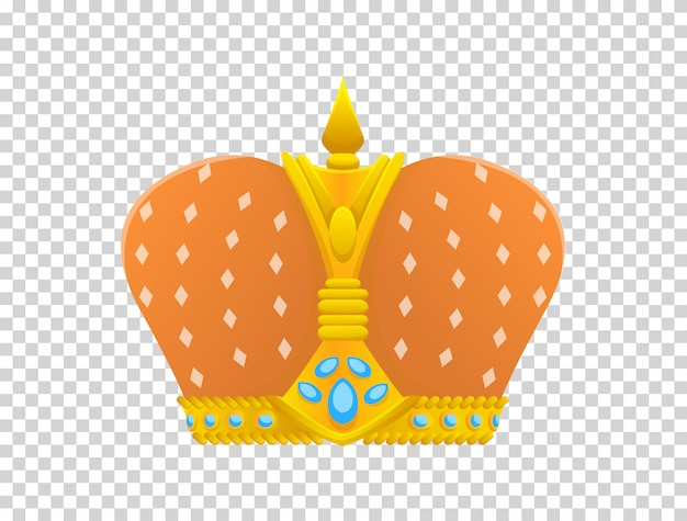 Gold crown icon. crown awards for winners, champions, leadership.