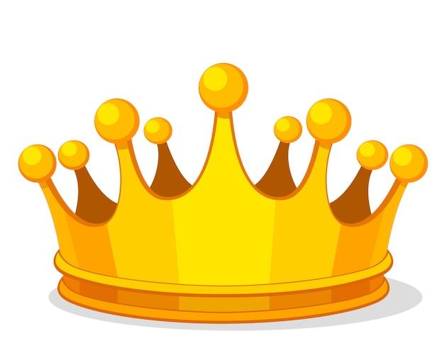 白地に金の王冠。オブジェクト、ロゴチップ