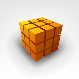 Gold cube vector illustration