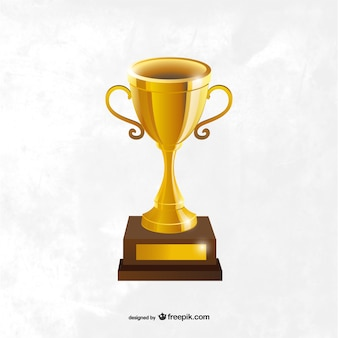 Gold cup trophy Free Vector