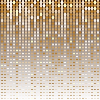 ゴールドドットハーフトーン抽象的な背景
