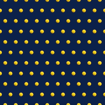 Gold dots on blue color abstract background. beauty vector seamless pattern.