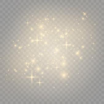 Золотая пыль. эффект пыли.