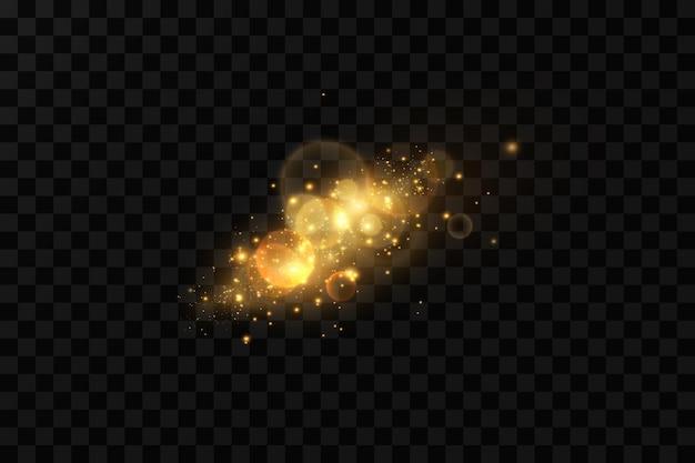 金粉の軽い粒子