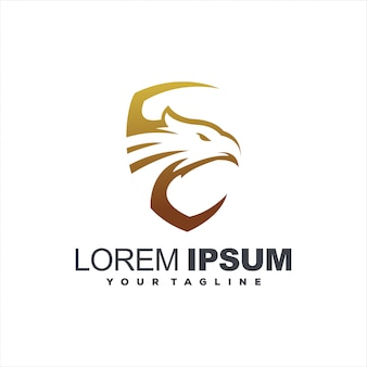 Дизайн логотипа головы золотого орла