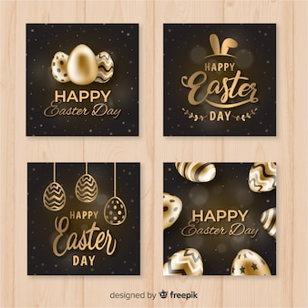 Gold easter card collection