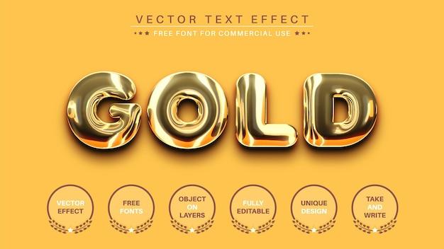 골드 편집 텍스트 효과 골든 편집 가능한 글꼴 스타일