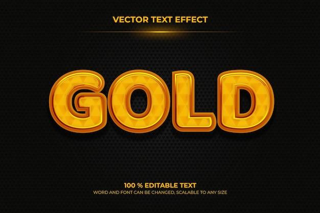 黒のバックラウンドスタイルでゴールドの編集可能な3dテキスト効果
