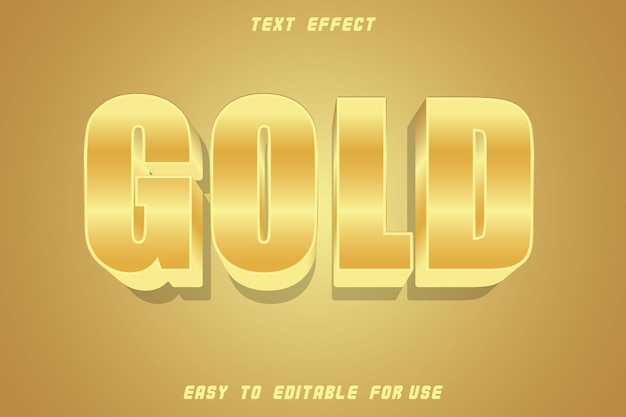 Gold editable text effect emboss gold style