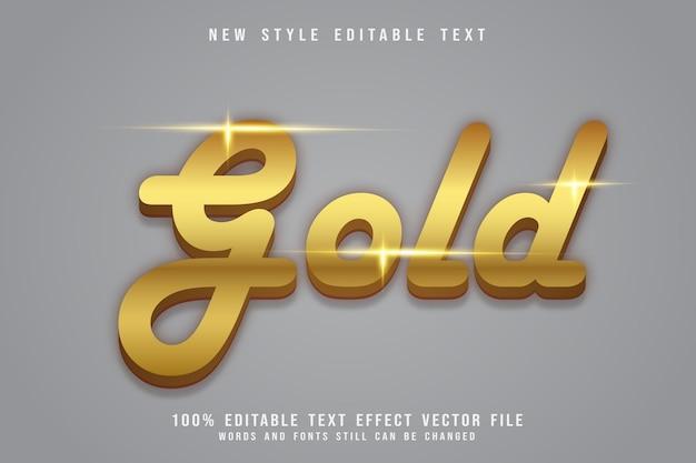 Gold editable text effect emboss luxury style