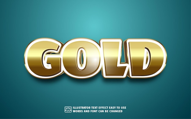 Золото - редактируемый стиль текстового эффекта