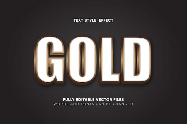 Золотой редактируемый текстовый эффект