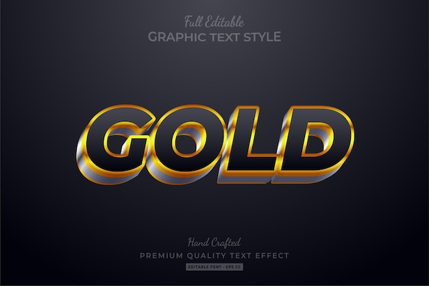 Gold editable text style effect