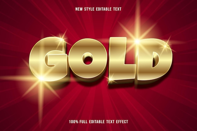 Gold effect editable text effect style luxury