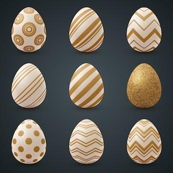Gold egg and star set