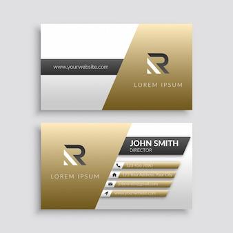 Gold elegant business card template