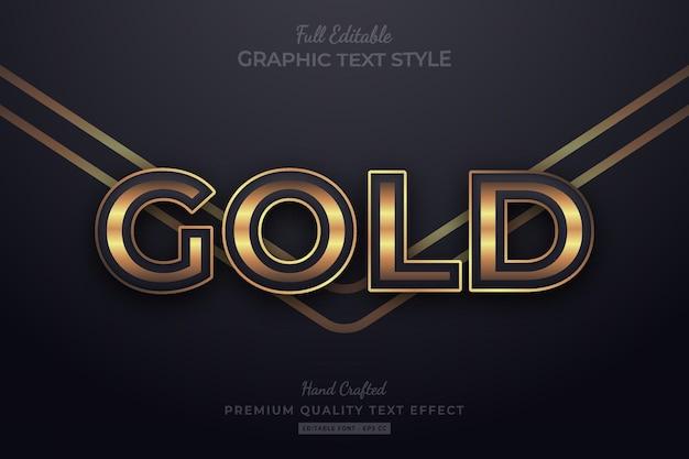 Gold elegant editable premium text effect font style