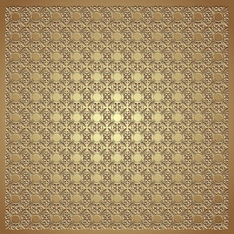 Gold emboss seamless pattern background