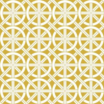 ゴールドのエスニックシームレスパターン。