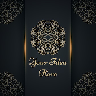 Gold ethnic template