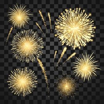 Gold festival fireworks set