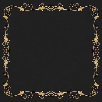 Gold filigree frame border