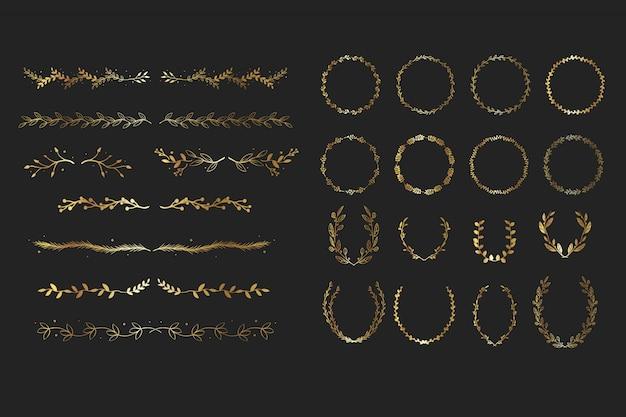 Gold floral elements