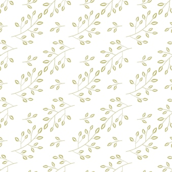 Gold floral seamless pattern for background and decoration