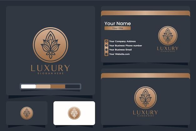 Золотой цветок, вдохновение для дизайна логотипа