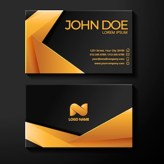 Gold foil business card template
