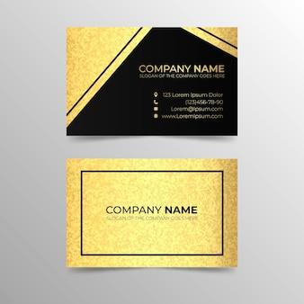Визитная карточка из золотой фольги