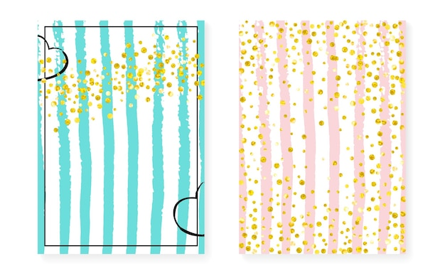 Gold foil invitation. white scatter particles. turquoise abstract cover. mint frame. pink splatter magazine. hand drawn starburst set. stripe vintage concept. golden gold foil invitation