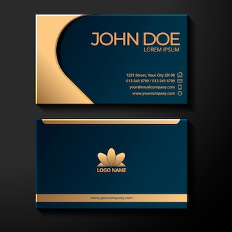 Gold foil logo business card template
