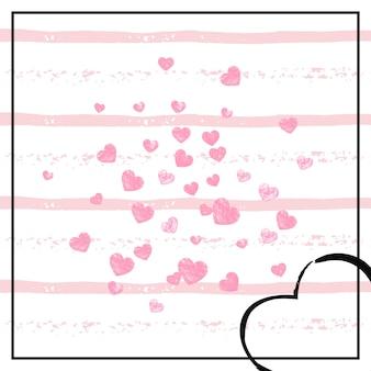 Блестки из золотой фольги. празднование обои. романтическая концепция. розовая праздничная рамка. золотое модное предложение. брошюра rose scrapbook. иллюстрация украшения. полоса золотая фольга блестки