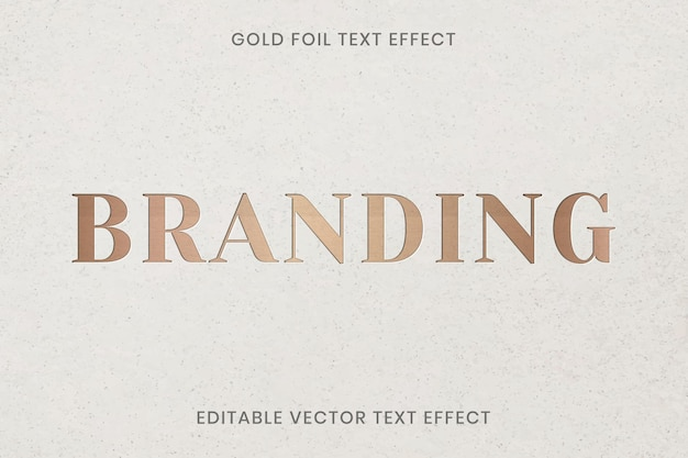 Золотая фольга текстуры текстовый эффект вектор редактируемый шаблон